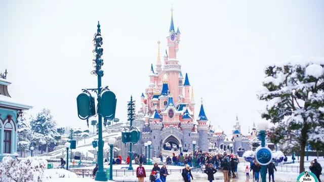 disneyland paris en hiver, météo et neige