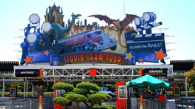 attraction studio tram tour walt disney studios disneyland paris