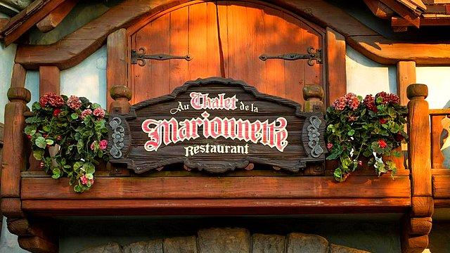 restaurant disneyland paris restaurant au chalet de la marionnette menu
