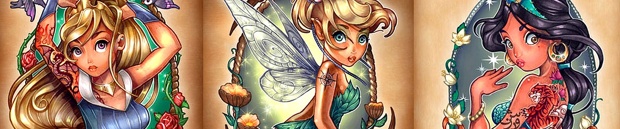 tatouage disney femme homme princesse petit idée