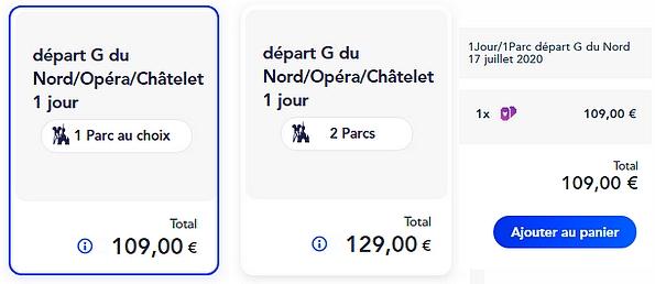 acheter un billet d'entrée avec navette pour disneyland paris