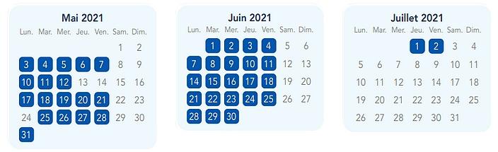 calendrier pass annuel discovery à disneyland paris