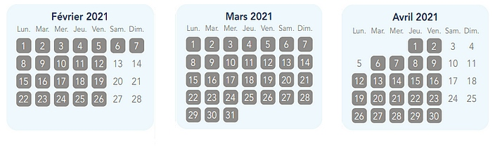 calendrier pass annuel magic flex pour disneyland paris