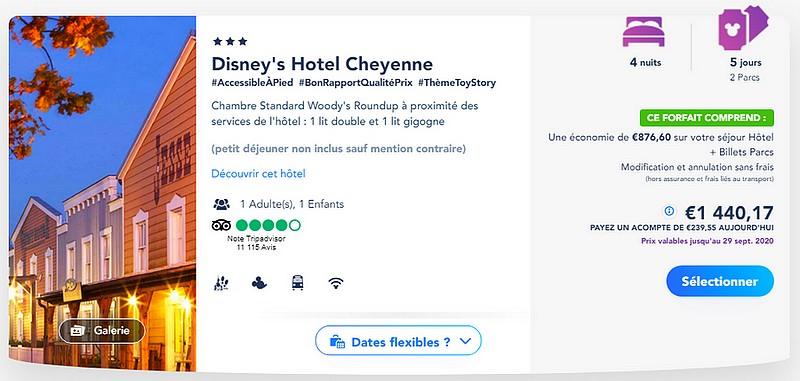 forfait billet d'entrée et hotel pour disneyland paris