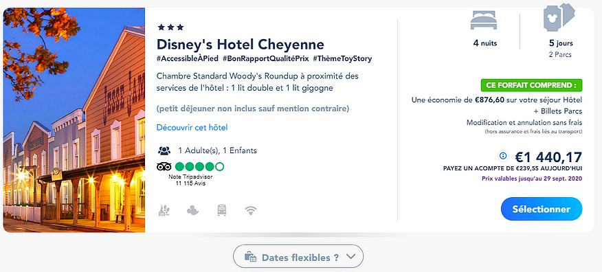 reserver un forfait billet d entree hotel disneyland paris