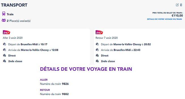 réserver un séjour à Disneyland Paris réserver un forfait billet d'entrée + hôtel à Disneyland Paris
