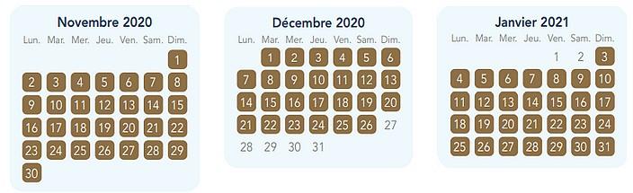 calendrier pass annuel magic plus pour disneyland paris 1