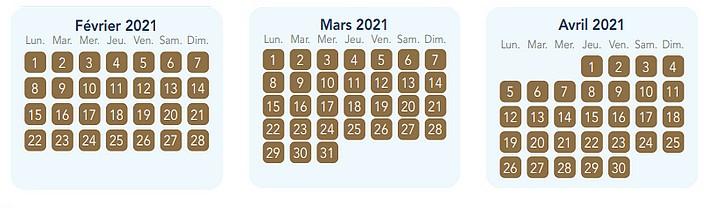 calendrier pass annuel magic plus pour disneyland paris 2