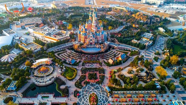 shanghai disney resort monde map