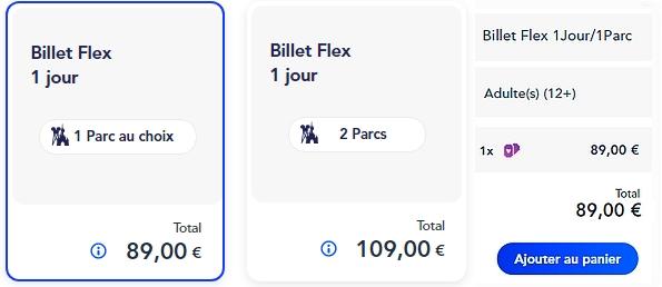 acheter un billet d'entrée 1jour pour disneyland paris