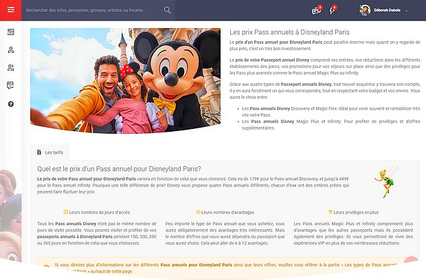 guide disneyland pass annuel disney