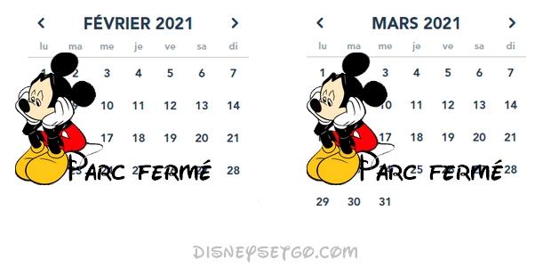 calendrier horaire disneyland paris