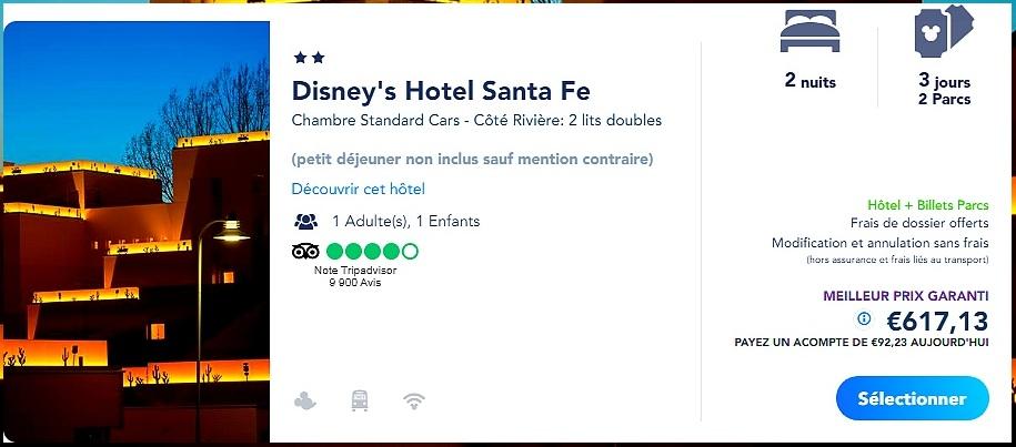 Acheter un forfait billet d'entrée et hôtel pour Disneyland Paris