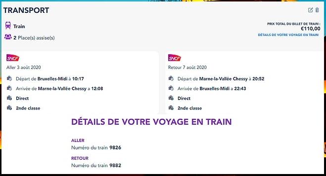 Acheter un forfait billet d'entrée + hôtel pour Disneyland Paris