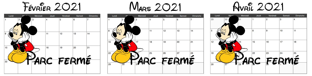 Calendrier d'affluence à Disneyland Paris