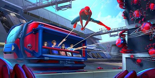Attraction spider man de l'Avengers Campus à Disneyland Paris