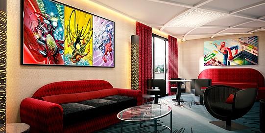 Chambres du Disney's Hotel New York - The Art of Marvel
